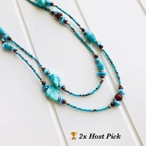 Jewelry - Boho Multi Stone and Beaded Necklace